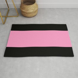 Just three colors 9 Black,pink,black Rug