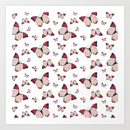 Spring Butterfly (Pattern) Art Print