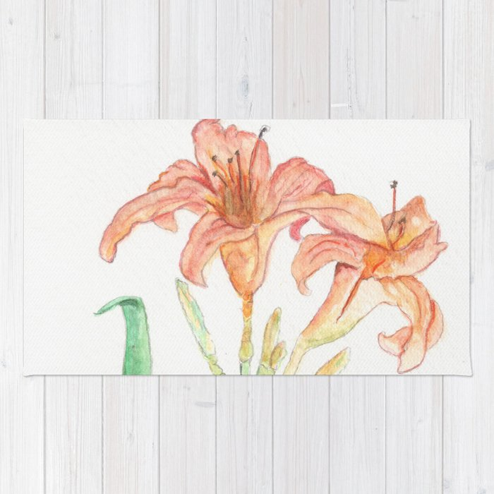 Hemerocallis (Day Lily) Rug
