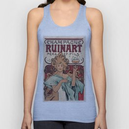 Vintage poster - Champagne Ruinart Unisex Tank Top
