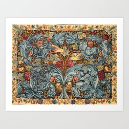 """William Morris """"Acanthus and vine"""" 2. Art Print"""