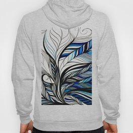 Black & Blue Lines Inspired By Ocean Hoody