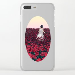 Field of Poppies | Colour Version Clear iPhone Case