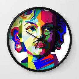 Marilyn Pop Art WPAP Wall Clock
