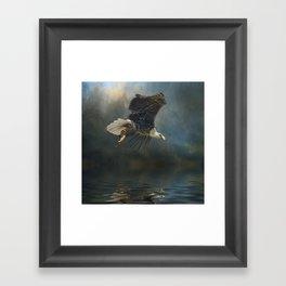 Bald Eagle Fishing Framed Art Print