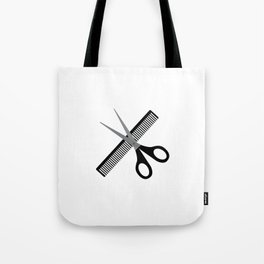 scissors & comb Tote Bag