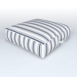 Dark Sargasso Blue Mattress Ticking Wide Striped Pattern - Fall Fashion 2018 Outdoor Floor Cushion