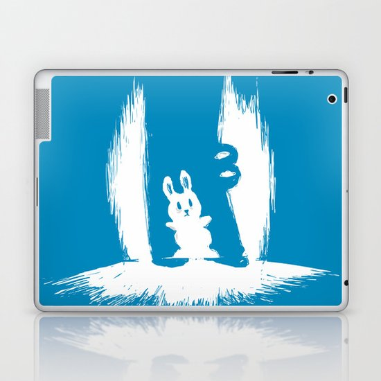 cornered! (bunny and crocodile) Laptop & iPad Skin