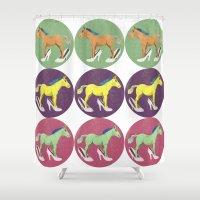 horses Shower Curtains featuring Horses by Bluetiz