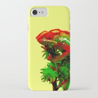rasta iPhone & iPod Cases featuring Rasta Chameleon by Gira Patel