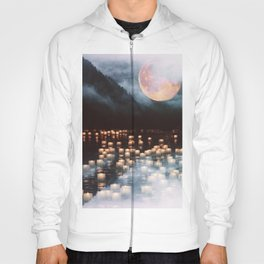 Fantasy lake with moonlight Hoody