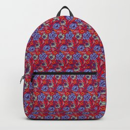 Red and blue Backpack