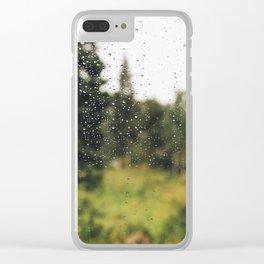 Raindrops, Navajo Lake UT Clear iPhone Case