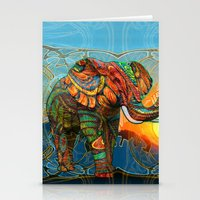 animal Stationery Cards featuring Elephant's Dream by Waelad Akadan
