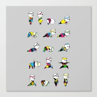 Yoga Bear - 80's Remix Canvas Print