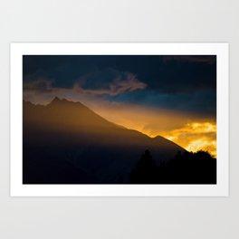 A Remarkable Sunset Art Print