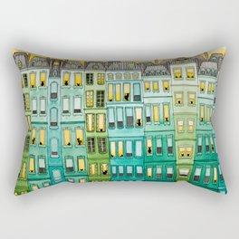 The Green Townhouses Rectangular Pillow