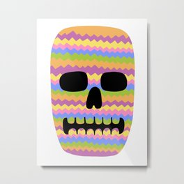 Zig-Zag Skull Metal Print