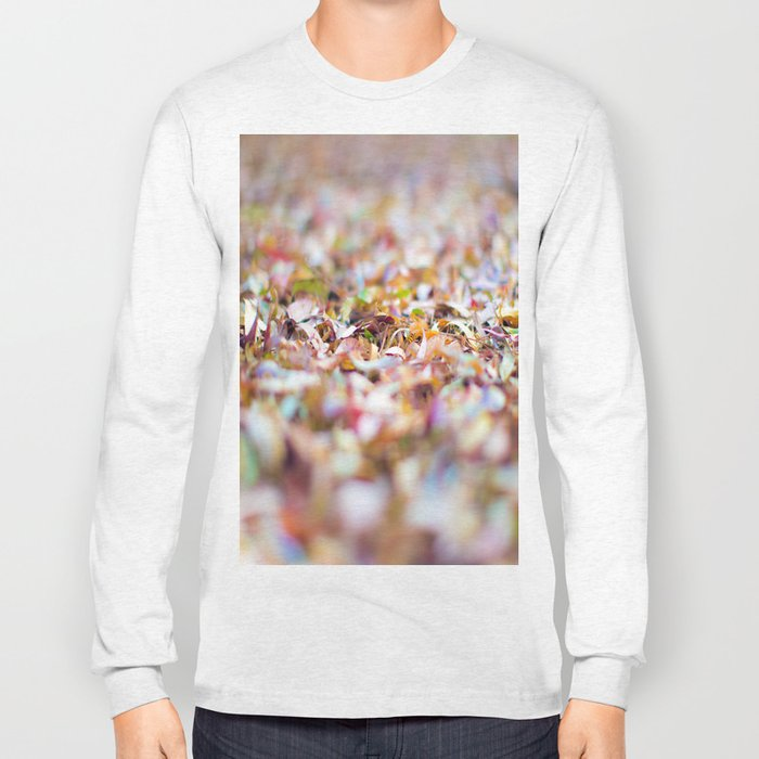 Summer Leaves Abstract Long Sleeve T-shirt