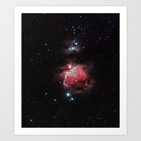 The Great Nebula in Orion Art Print