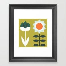 Set Sun Olive Framed Art Print
