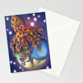 """Octo World"" Stationery Cards"