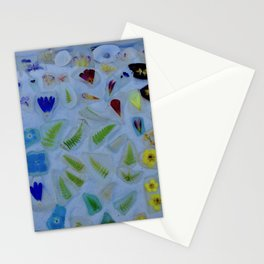 Flowers on Beach Glass 3 Stationery Cards