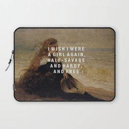 half-savage and hardy, and free Laptop Sleeve
