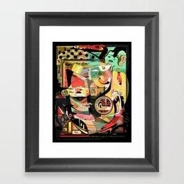 Pigtails Banana Chaos Framed Art Print
