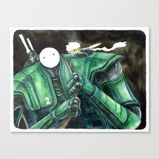 Moonbot #2: Green Canvas Print