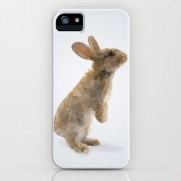 Polygon Rabbit iPhone Case
