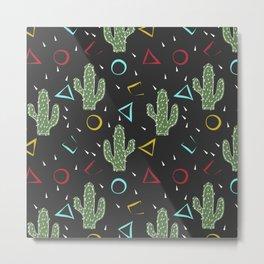 Cacti. Abstract modern pattern 3 Metal Print
