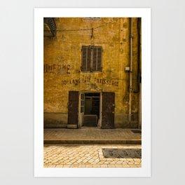 Boulangarie Cassis France Art Print