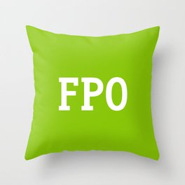 For Placement Only - FPO - Artwork (Ebay Green) Throw Pillow