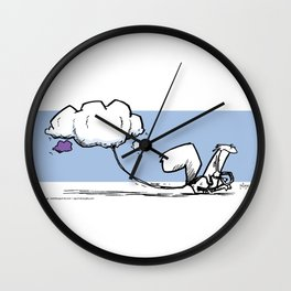 Walking the Clouds Wall Clock