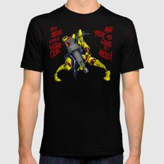 Scud The Disposable Assassin: Jesus with a Laser Gun! Black MEDIUM Mens Fitted Tee