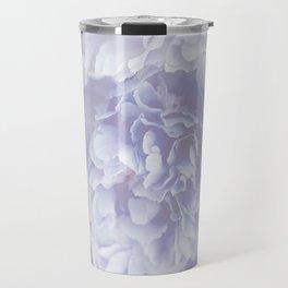 Flower Bouquet In Pastel Blue Color - #society6 #buyart Travel Mug