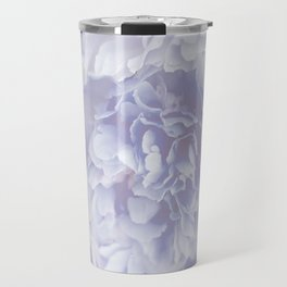 Flower Bouquet In Pastel Blue Color - #society6 #buyart Travel Mug