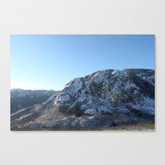 Les montagnes hivernales Canvas Print