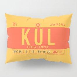 Baggage Tag B - KUL Kuala Lumpur Malaysia Pillow Sham