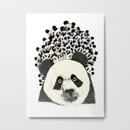 Follow the Panda Metal Print