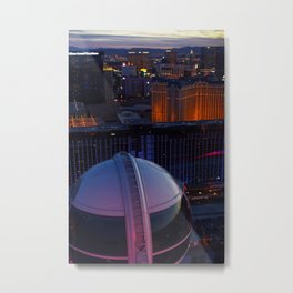 Las Vegas Strip from the Highroller Metal Print