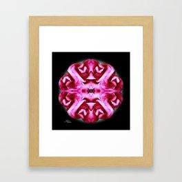 Pink Rose Mandala Framed Art Print