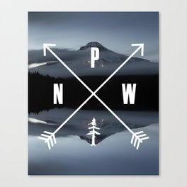 PNW Pacific Northwest Compass - Mt Hood Adventure Canvas Print
