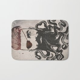 Black Beard Bath Mat