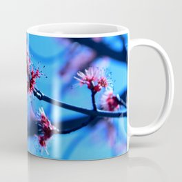 Feathery Red Blossoms Coffee Mug