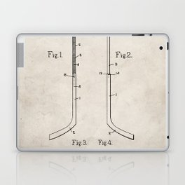 Ice Hockey Stick Patent - Ice Hockey Art - Antique Laptop & iPad Skin
