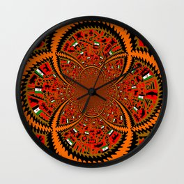 Africa Pictograph Wall Clock