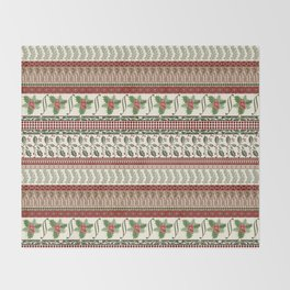 Mistletoe Ugly Sweater Throw Blanket
