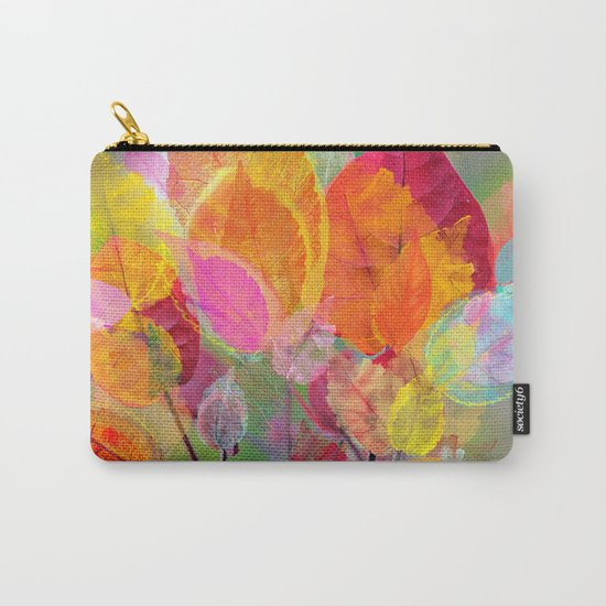 Leaf mosaic(30). Carry-All Pouch